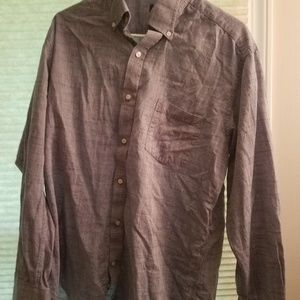 Mens tailorbyrd size L button down shirt